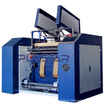 Full automatic stretch cash register paper roll rewinding slitter and cling fillm machine