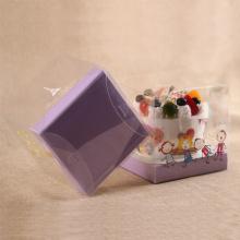 Boîte à gâteau en plastique transparent