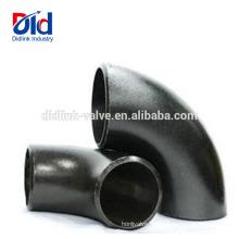 Coude à manchon de compression 90 degrés en acier au carbone ANSI B16.9 120 Degree 135 15 Pipe 180