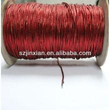 Красный ПЭТ металлизированной нитью