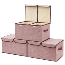 Multi-fonction waterproof  Cute eco cube non woven foldable toy storage boxes with lids
