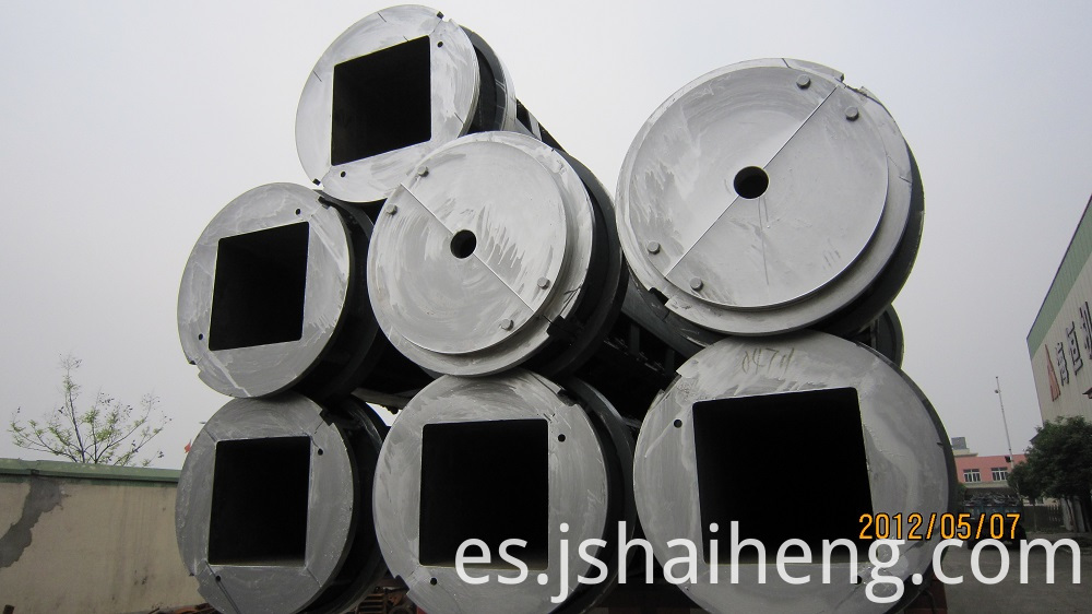 Hollow Square Pile Mould 2