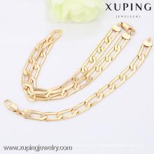 63490-Xuping joyería de moda al por mayor conjunto de joyas de oro