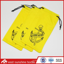 Silkscreen Printing Soft Microfiber Cell Phone Pouch