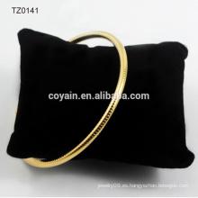 Brazalete de pulsera de cadena de oro