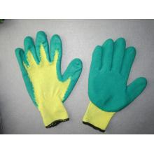 10g Polyester Liner Latex beschichtete Chemikalienhandschuh - 5242. Gn