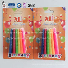 Pure Color Happy Birthday Tapered Candles