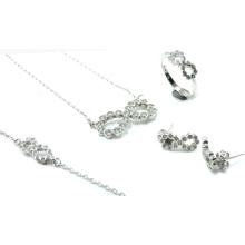 Le plus récent design pour les ensembles de bijoux en argent 925 en bois (S3316)