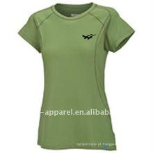 Camisa de tênis 2014 das mulheres novas da planície da chegada, roupa de tênis