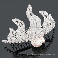 wholesale crystal hair accessories tiara hair combs