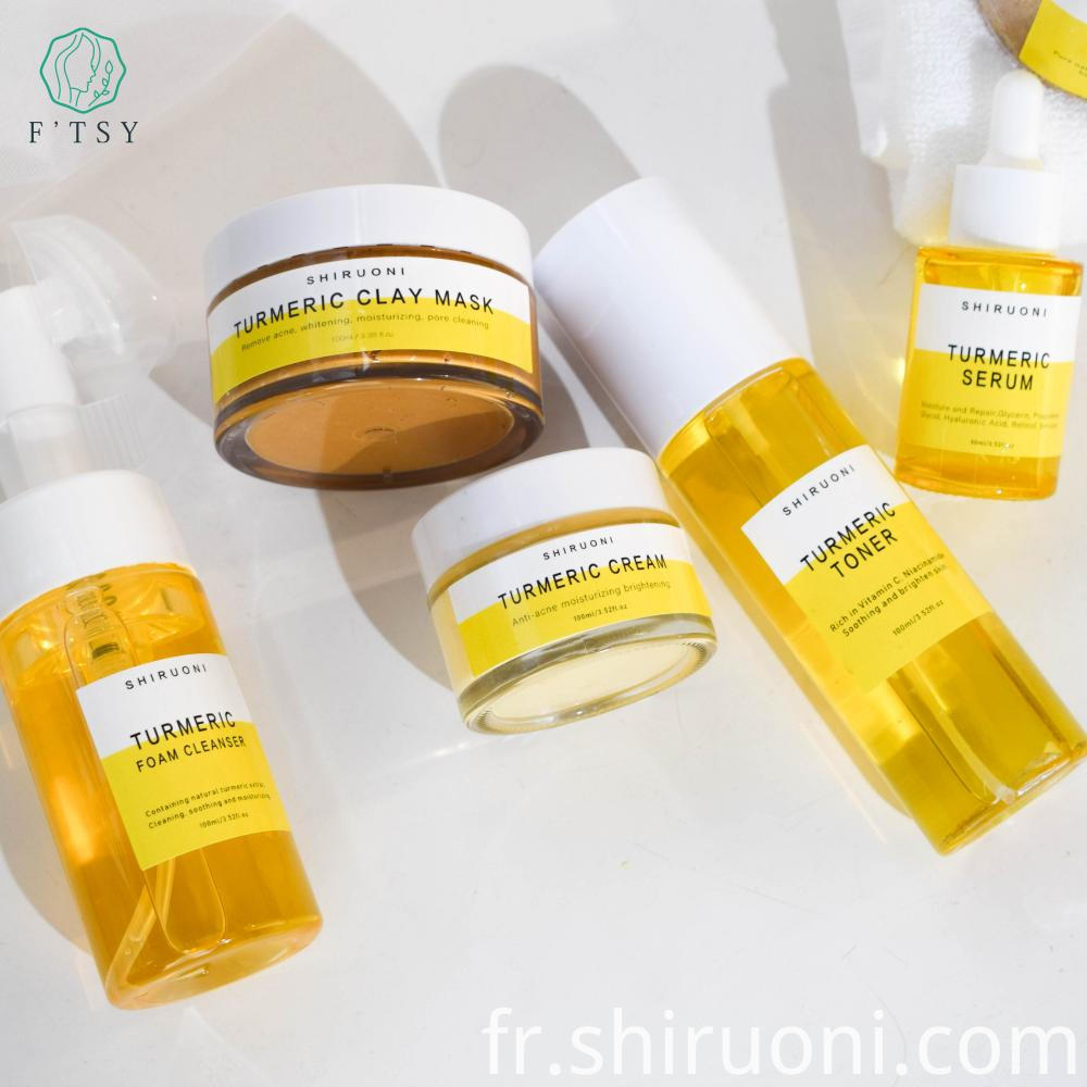 turmeric skin care set