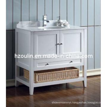 White Single Sink Bathroom Vanity (BA-1116)