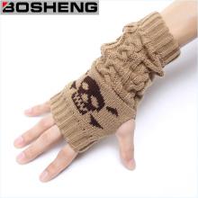 Women Fingerless Half Gloves, Winter Warm Knitted Gloves
