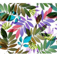 Разноцветные листья напечатано нейлона ткани для купальников (ASQ101)