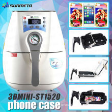 Nouvelle mini machine de pressurisation sous vide mini sublimation 3D ST-1520 pour l'impression de boîtiers de téléphone