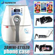 Nova mini máquina 3D ST-1520 da imprensa do calor do vácuo da sublimação para a impressão da caixa do telefone