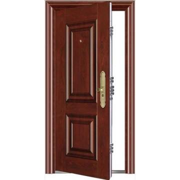 Stahltür einzelnes Blatt Tür Stahl Sicherheitstür
