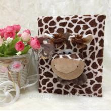 Hot sale plush jungle animal 5R 5x7 photo album