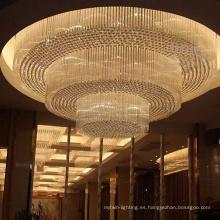 Lámpara de techo de araña de restaurante de hotel de lujo