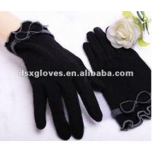 fashion black cashmere gloves for women