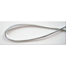 Wholesale cheap braided silver metallic elastic cord
