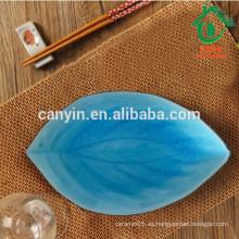 Plato marroquí azul y negro de cerámica al por mayor