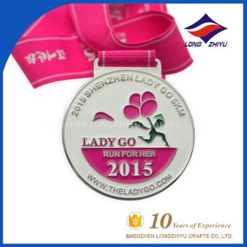 2015 Metal Creative 5km Laufmedaille Großhandel Sport Medaille Fabrik