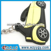 Bon marché célèbre voiture Logo PVC a gravé le trousseau pour cadeau
