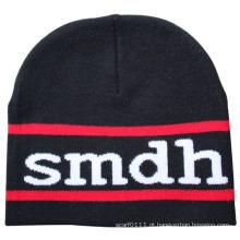 Homens moda acrílico malha de inverno quente esqui esportes chapéu (yky3117)