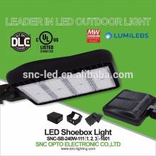 Outdoor Pole Mounted 240W LED Parking Lot Shoebox Light with UL DLC