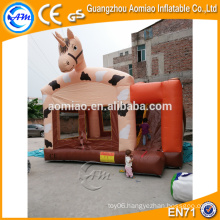 Cheap indoor kids inflatable horse bouncers with blower for sale