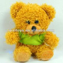 100%lovely plush mini teddy bear with T-shirt