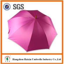 Розовый цвет стандартного размера резной деревянной ручкой зонтик