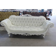 Classic elegant white hotel reception sofa XY0838