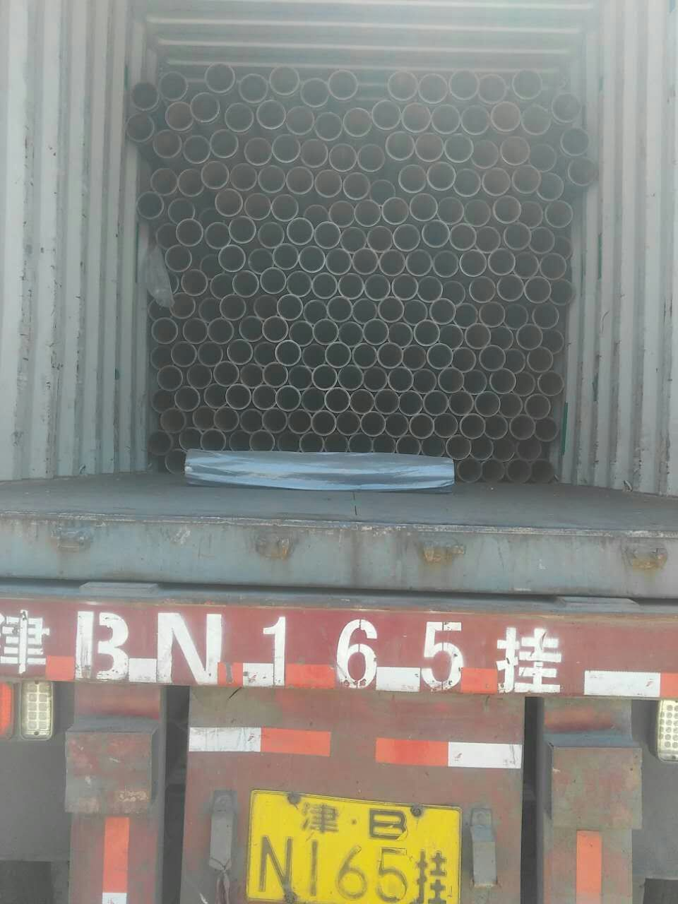 concrete pump harden pipe container loading