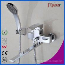 Fyeer Long Spout Bathroom Bath and Shower Faucet Mixer