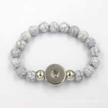 Stainless Steel Button Jewelry Fashion Silicone Bracelet