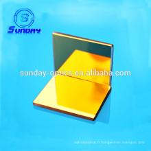 Miroir laser avec revêtement en or cuivre ou verre substrat 12,7 mm 25,4 mm