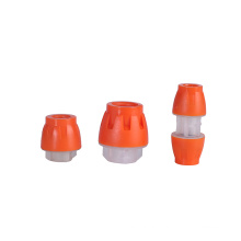 Compression fittings coupler , straight buried fittings end stop microfit connector for hdpe pipes