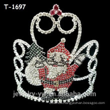 Fancy colored rhinestone elf surprise christmas pageant crowns