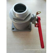Square Flange One Way Ball Valve External Thread Male Ball Valve