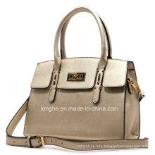 Textured Buckle Top Handle Designer Handbag (ZXS0064)