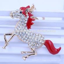 Les fabricants de porte-clés à clés en forme de cheval à la publicité en Chine