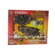 kids cowboy toy gun set