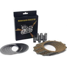 Motorcycle clutch friction plate set