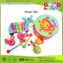 2015 Brinquedos de música segura encantadora, bons conjuntos de brinquedos para bebês, conjuntos de instrumentos musicais