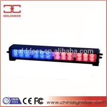 Coche de policía rojo y azul intermitente ADVERTENCIA luz del estroboscópico del guión luz 12V (SL632)