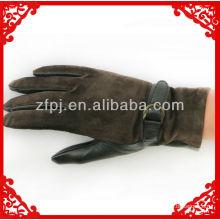 Nuevos guantes de la parte posterior del ante de la palma de los deerskin de los hombres del estilo