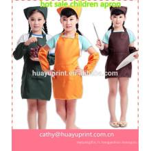 Jolie jupe imperméable aux enfants, écharpe, dessiner les vêtements, bavoir, robes de chambre à dîner, manchette de tablier pour enfants
