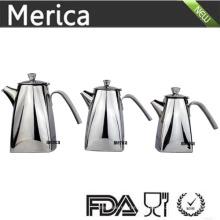3 Tamaños de acero inoxidable Trapezoid Tea and Wattle Pot con labios gruesos